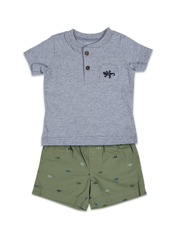 Carters Boys 2pcs Knicker Suit H/S With Pocket & Animal Print #BD2 (S-20) - enemmall.com