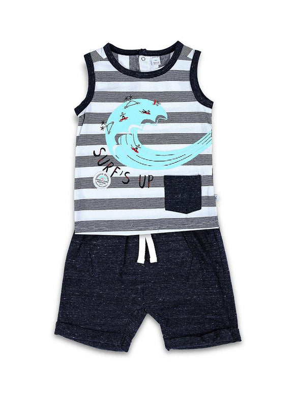 Imp Boys S/L Knicker Suit With Super up Print #107 (S-20) - enemmall.com