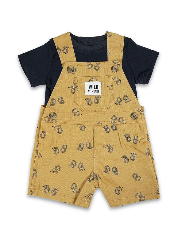 Imp Boys 2Pcs H/S Daungree Suit With Lion Print # 3 (S-20) - enemmall.com