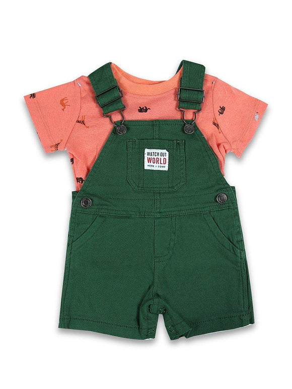 Imp Boys 2Pcs H/S Daungree Suit With E/EFMM Print #3 (S-20) - enemmall.com