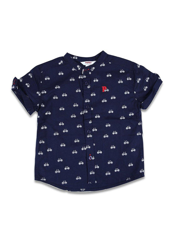 Imp Boy H/S Crew Neck T Shirt With Cycle Print #12 (S-20) - enemmall.com
