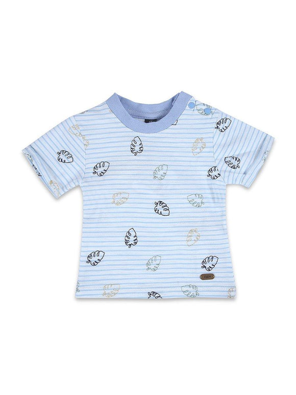 Imp Boy H/S Crew Neck T Shirt With Leaf Emb #6 (S-20) - enemmall.com