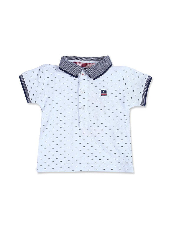 Imp Boys H/S Polo T Shirt With Star Patch #13 (S-20) - enemmall.com
