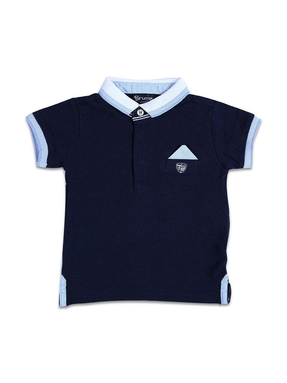 Imp Boys H/S Polo T Shirt With B55 Patch #11 (S-20) - enemmall.com