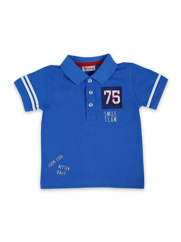 Imp Boys H/S Polo T Shirt With 75 Patch #10 (S-20) - enemmall.com