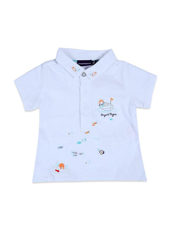 Imp Boys H/S Polo T Shirt With Fish Emb #7 - enemmall.com