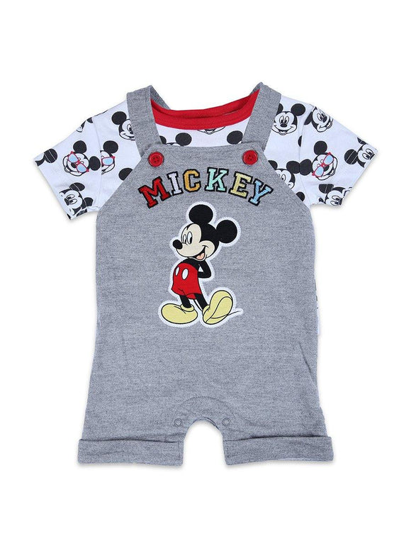 Disney Boys H/S 2Pcs Daungree Suit With Mivky Emb #3 - enemmall.com
