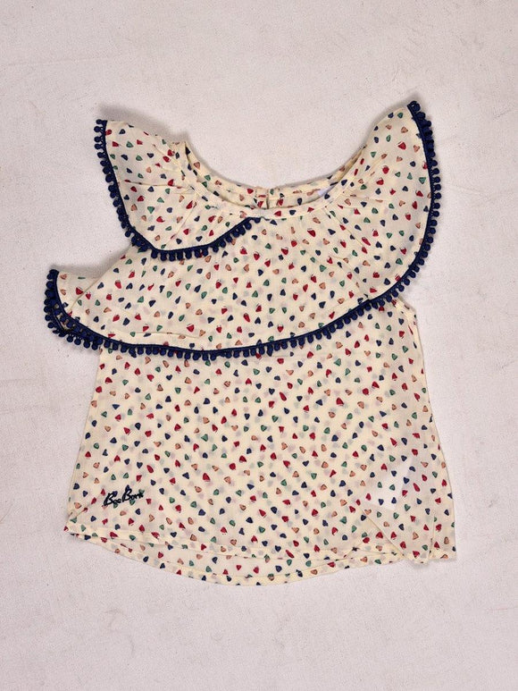 Imp Girls C/S Blouse With Heart Print #192680