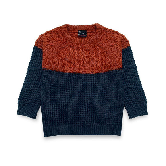 A & J Boys Round Neck Sweater L/S # BT- 48820 (W-20)