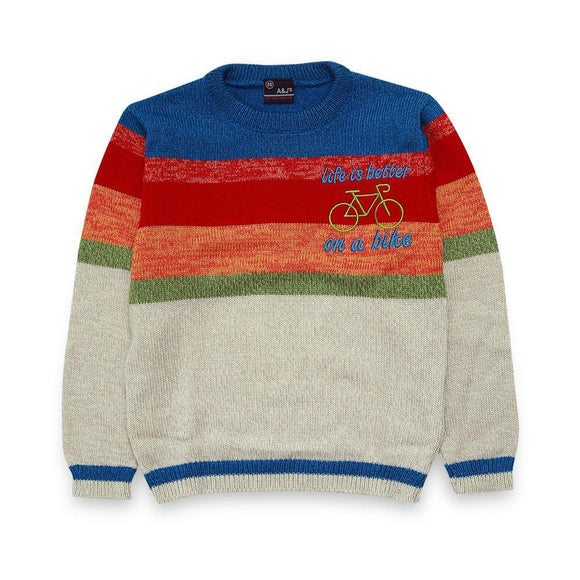 A & J Boys Round Neck Sweater L/S # BT-32920 (W-20)