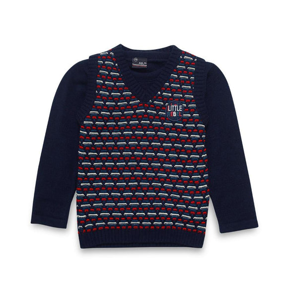 A & J Boys 2Pck Sweater L/S # BT-51320 (W-20)