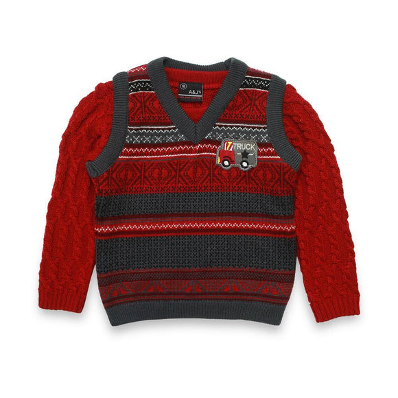 A & J Boys 2Pck Sweater L/S # BT-51520 (W-20)