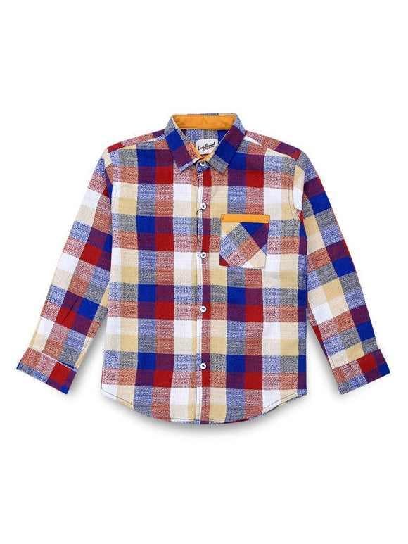 Linez Apparel Boys Casual Shirts L/S LA-20-BWCS008 (SB)