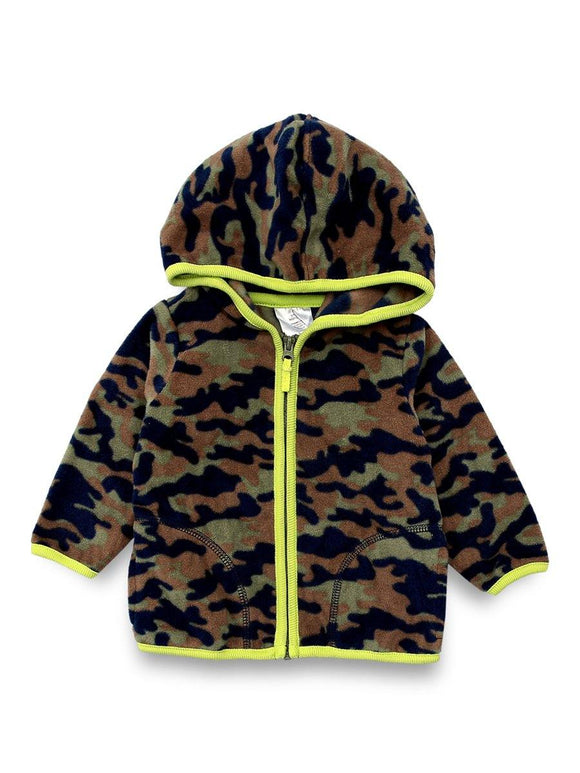 Imp Boys Zipper Hoodie L/S With Army Print # 7 (W-20)