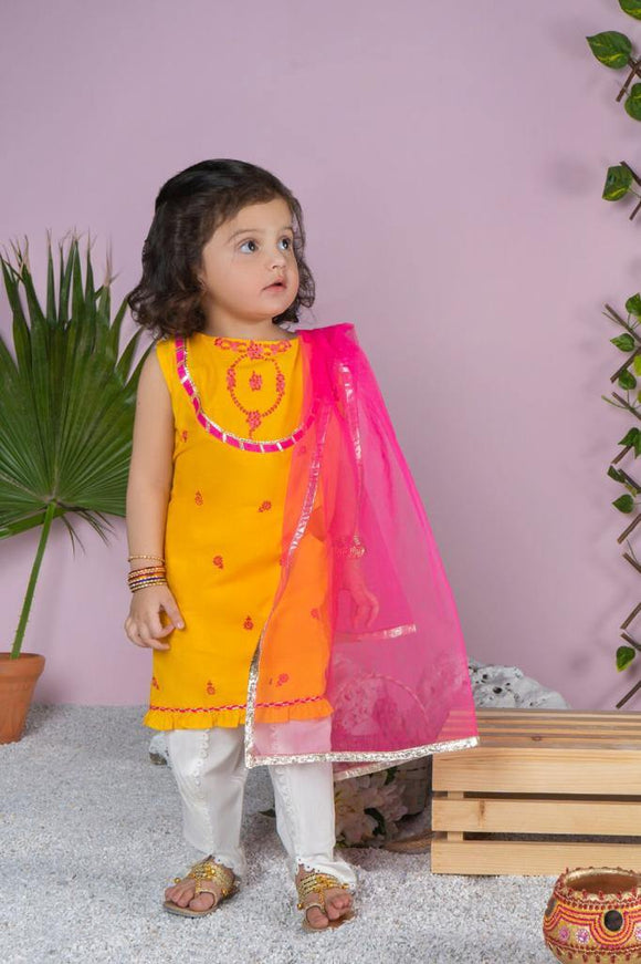 Dhaga Girls 3Pcs Shalwar Suit 06G (S-21)