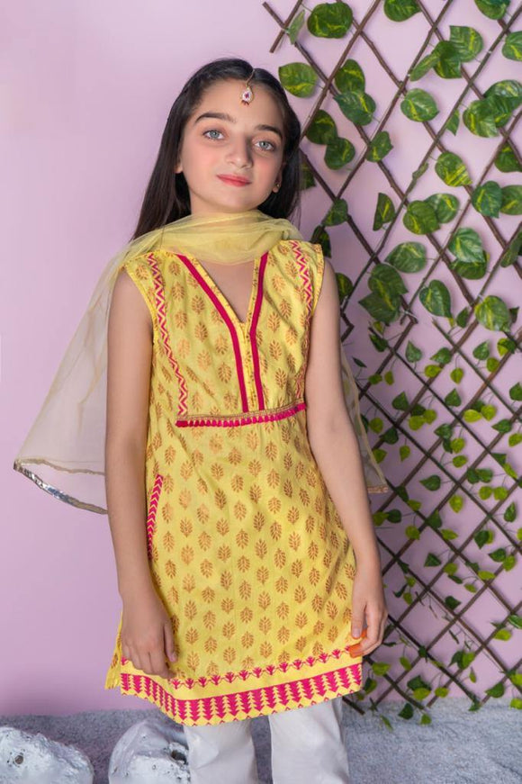 Dhaga Girls 3Pcs Trouser Suit 04G (S-21)