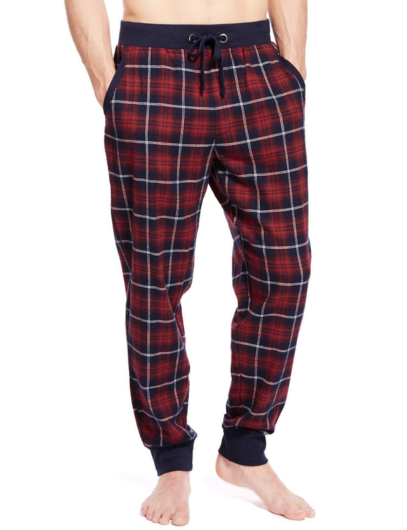 M&S Mens Woven CheckPajama T07/3874 - enemmall.com