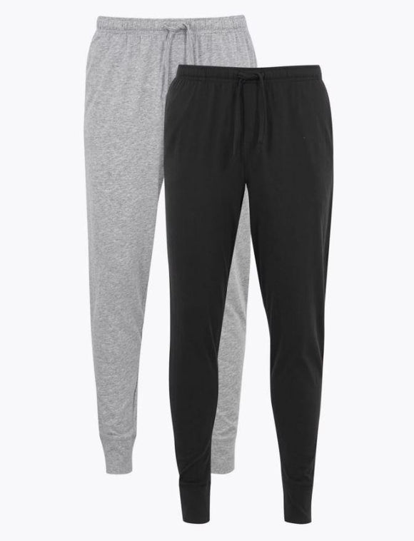 M&S Men Cotton 2-Pack Joggers T07/3067