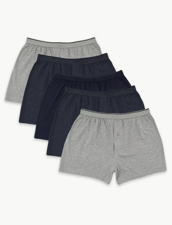 M&S Mens Cool & Fresh Knitted Boxer 5 Pair T14/8304F