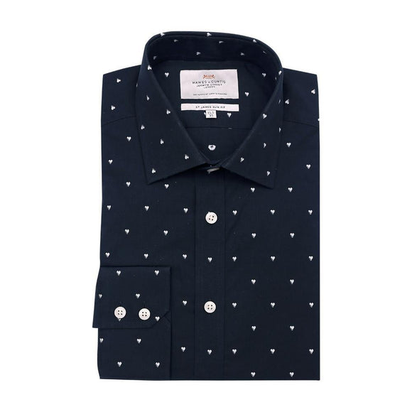 H & C Men Formal F/S Shirt Printed SSVFU930 - enemmall.com