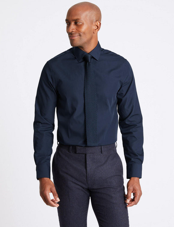 M&S Mens F/S Formal Shirt T11/2325S - enemmall.com