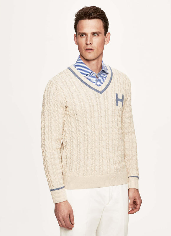 Hackett Mens F/S Cotton Mix Pull Over HM702273 - enemmall.com