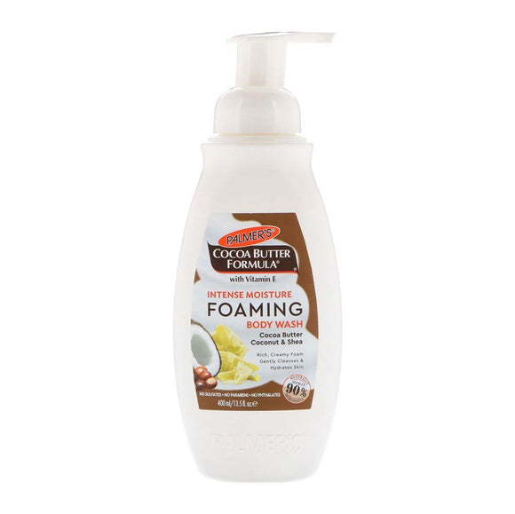 COCOA BUTTER FORMULA INTENSE MOISTURE FOAMING BODY WASH COCONUT & SHEA 400ML