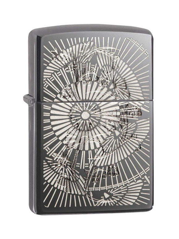 Zippo Lighter 29421 Asian Floral - enemmall.com