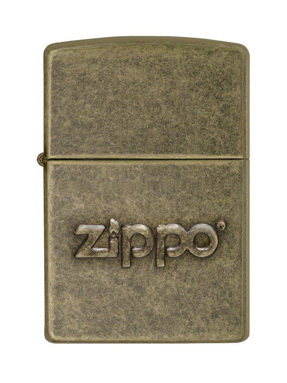 Zippo Lighter 28994 Stamp Anti Brass - enemmall.com