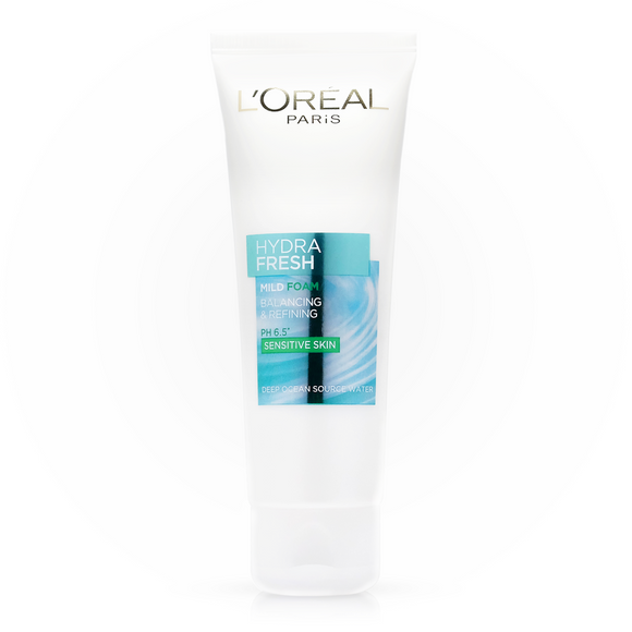Loreal Pairs Hydra Fresh Mild Foam Sensitive Skin 100ml - enemmall.com