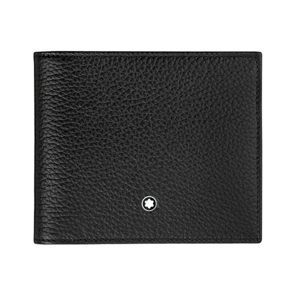 Wallets Mont Blanc MST SOFT Grain Wallet 8CC Black 114464 - enemmall.com