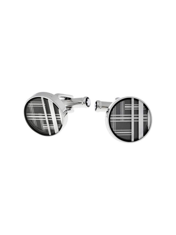Montblanc Cufflinks Steel Graphic-109788