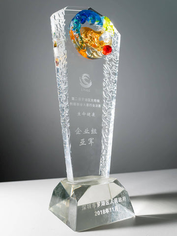 Award trophy from innovation competition