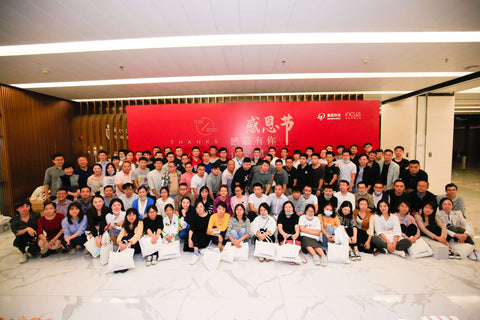 Googoltech team at the thanksgiving event 2020