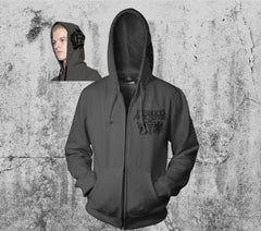 Dead King Grey Zipper Hoodie