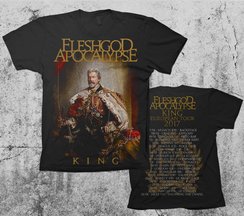 KING cover art t-shirt TOUR back 2017