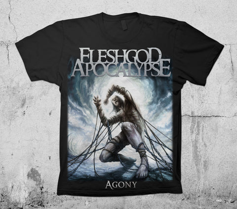 Agony cover art design T-Shirt TOUR back