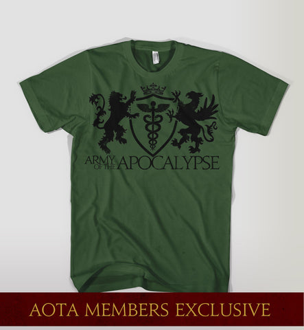 Army of the Apocalypse Green T-shirt