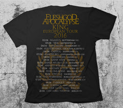 King Cover Art T-shirt Tour 2017-2016