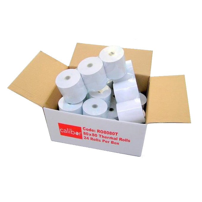 Calibor Thermal Plain Paper Receipt Rolls (24 Pack)