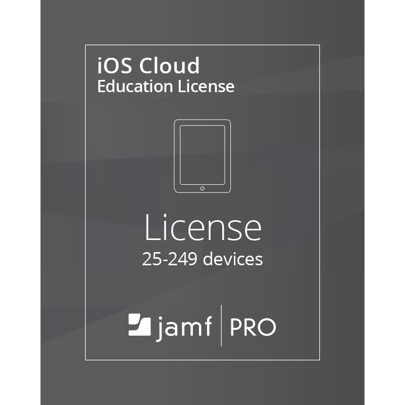 Jamf Pro iOS Cloud License (25-9999 Devices) - Education
