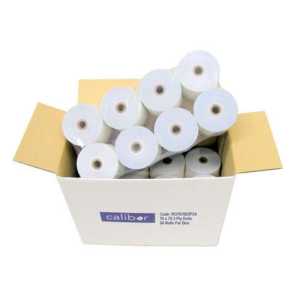 Calibor 3-Ply Paper Receipt Rolls (24 Pack)