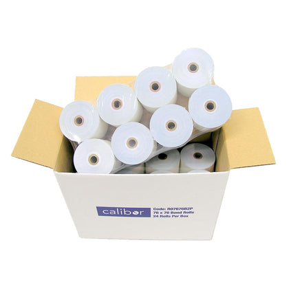 Calibor 2-Ply Paper Receipt Rolls (24 Pack)