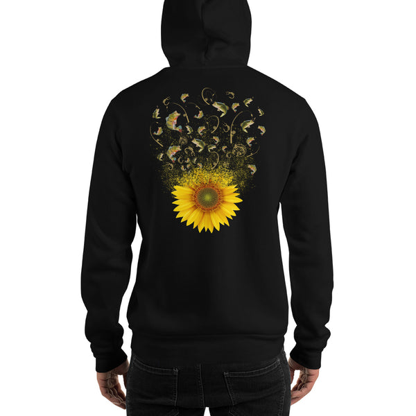 Fishing Sunflower Hoodie 11 Colors