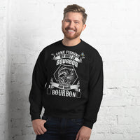Gone Fishing My Bait Is Bourbon Sweatshirt 10 Colors