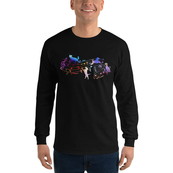 Long Sleeve Music And Dog Shirt 12 Colors