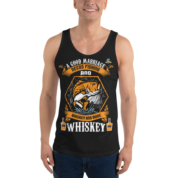 A Good Marriage Needs Fishing And Whiskey Tank Top 10 Colors