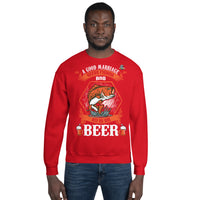 A Good Marriage Needs Fishing And Beer Sweatshirt 10 Colors