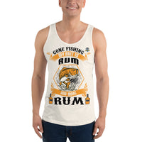 Gone Fishing My Bait Is Rum Tank Top 10 Colors