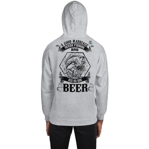 A Good Marriage Needs Fishing And Beer Hoodie 11 Colors